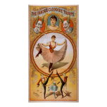 CLODOCHE TROUPE French CircusAct VAUDEVILLE Poster