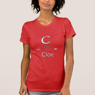 Cloe tshirts name
