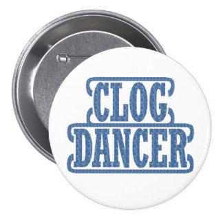 Clog Dancer Large 3 Inch Round Button
