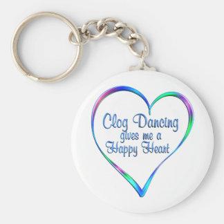 Clog Dancing Happy Heart Keychain