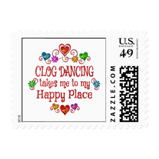 Clog Dancing Happy Place Postage Stamp