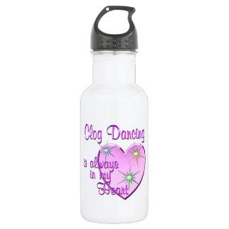 Clog Dancing Heart Stainless Steel Water Bottle