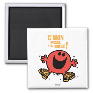 Clog Dancing Mr. Noisy 2 Inch Square Magnet