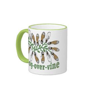Clog Over Vine Dance Ringer Mug