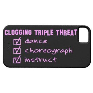Clogger Clogging Triple Threat iPhone SE/5/5s Case