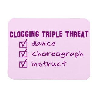 Clogger Clogging Triple Threat Rectangular Photo Magnet