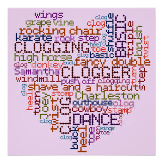 Clogger Clogging Word Art Poster