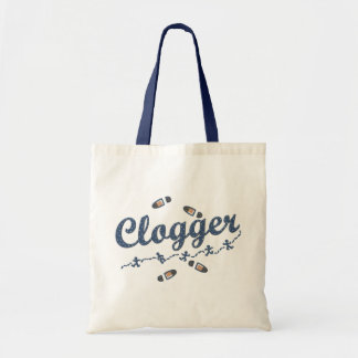 Clogger Dancers Shoes Clogging Blue Tote Bag