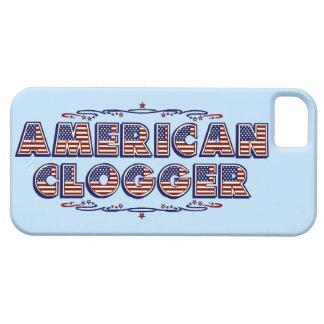 Clogger Flag Dancing Clogging American Blue iPhone SE/5/5s Case