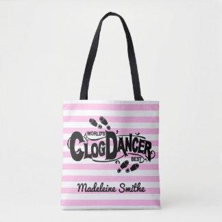 Clogging Clog Dancer Pink Vintage Look | Add Name Tote Bag