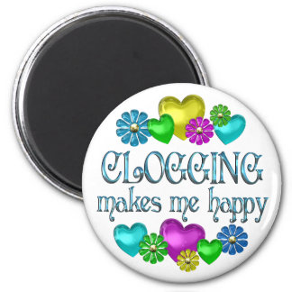 Clogging Happiness 2 Inch Round Magnet