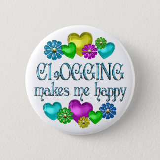 Clogging Happiness Pinback Button