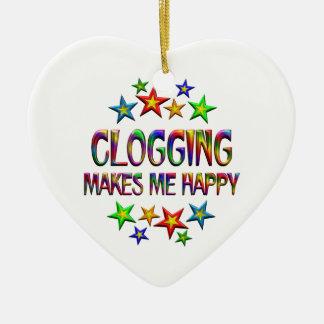 Clogging Happy Ceramic Ornament