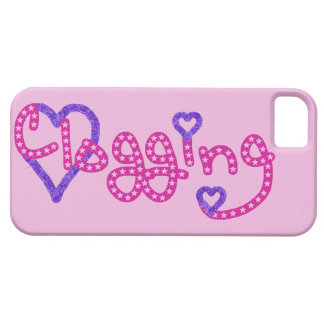 Clogging Love Stars Hearts Pink iPhone 5 Cover