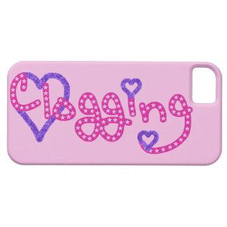 Clogging Love Stars Hearts Pink iPhone SE/5/5s Case
