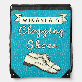 Clogging Shoes Personalized for Cloggers Dance 2 Drawstring Bag