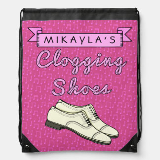 Clogging Shoes Personalized for Cloggers Dance Drawstring Bag