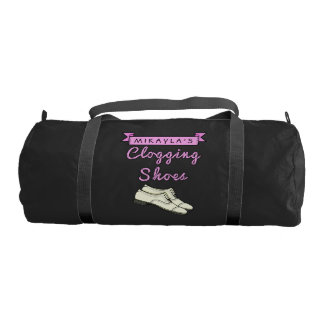 Clogging Shoes Personalized for Cloggers Dance Gym Duffel Bag