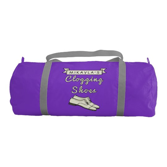 Clogging Shoes Personalized For Cloggers Dance Gym Bag