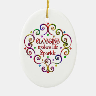 Clogging Sparkles Ceramic Ornament