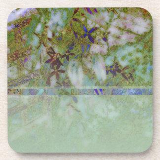 Cloisonne Blue Green Beverage Coaster