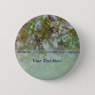 Cloisonne Blue Green Button