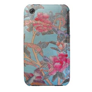 Cloisonne bonito del rosa y de la turquesa iPhone 3 cárcasas