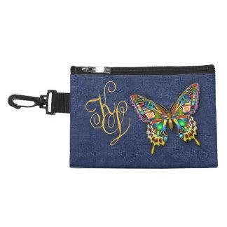 Cloisonne Butter on Faux Denim Accessories Bag