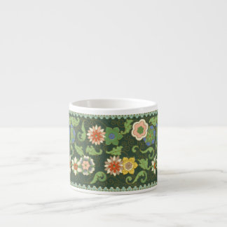 Cloisonne China Pattern Asian Espresso Cup