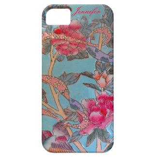 Cloisonne del rosa en colores pastel y del azul iPhone 5 carcasa