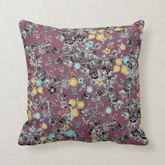 cloisonne flowers berry throw pillow