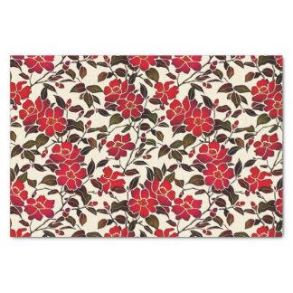 Cloisonne Style Christmas Flower Tissue Paper