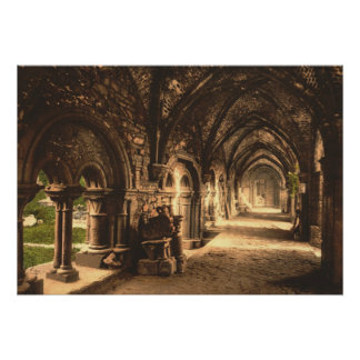 Cloister at St. Bavon Abbey, Ghent, Belgium Posters