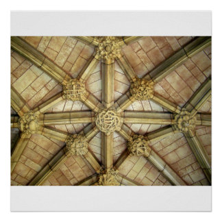 Cloister ceiling, Westminster Abbey Print