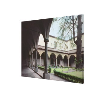 Cloister of the convent, rebuilt in 1442 (photo) canvas print