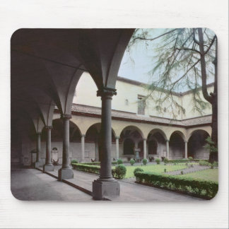 Cloister of the convent, rebuilt in 1442 (photo) mouse pad