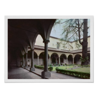 Cloister of the convent, rebuilt in 1442 (photo) poster