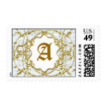 cloister (peach alt) postage stamps
