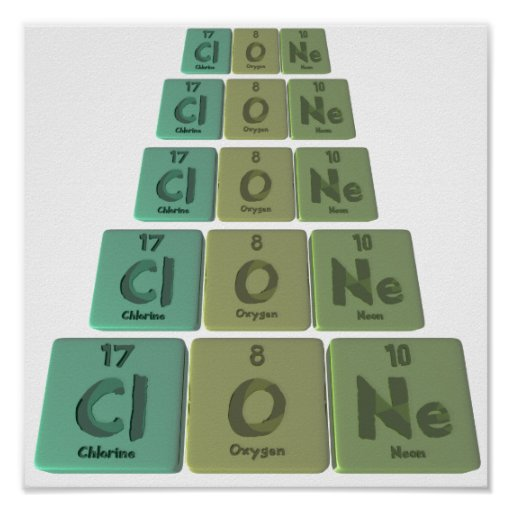 Clone-Cl-O-Ne-Chlorine-Oxygen-Neon.png Poster