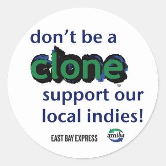Clone Classic Round Sticker