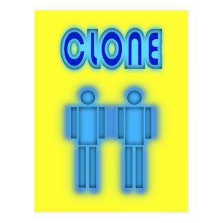 Clone TWO Figures Design Postcard