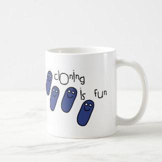 Cloning is fun classic white coffee mug