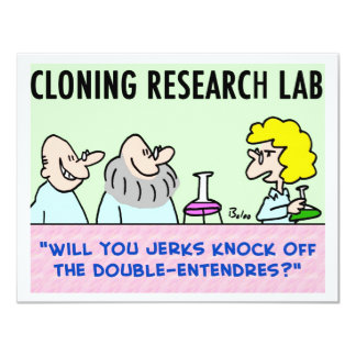 cloning lab double-entendres card