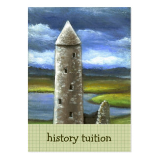 Clonmacnoise round tower large business cards (Pack of 100)