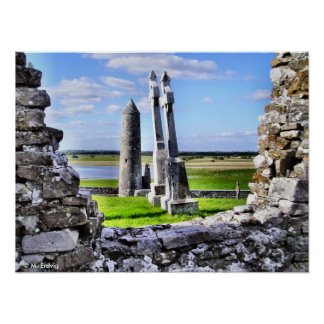 Clonmacnoise Tower Poster or Print