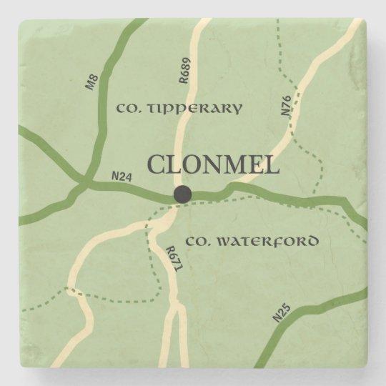 County Tipperary Ireland Map.Clonmel County Tipperary Ireland Road Map Stone Coaster Zazzle Com