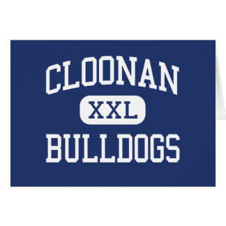 Cloonan Bulldogs Middle Stamford Connecticut Greeting Card