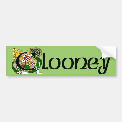 Clooney Celtic Dragon Bumper Sticker