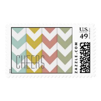 Clorful chevron Cheers stamp