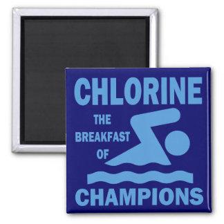 Cloro el desayuno de campeones imán cuadrado